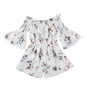 Baby Floral Romper - Brand New